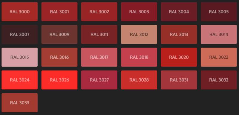 Rottöne Farbpalette farbpalette - die haustierwerkstatt